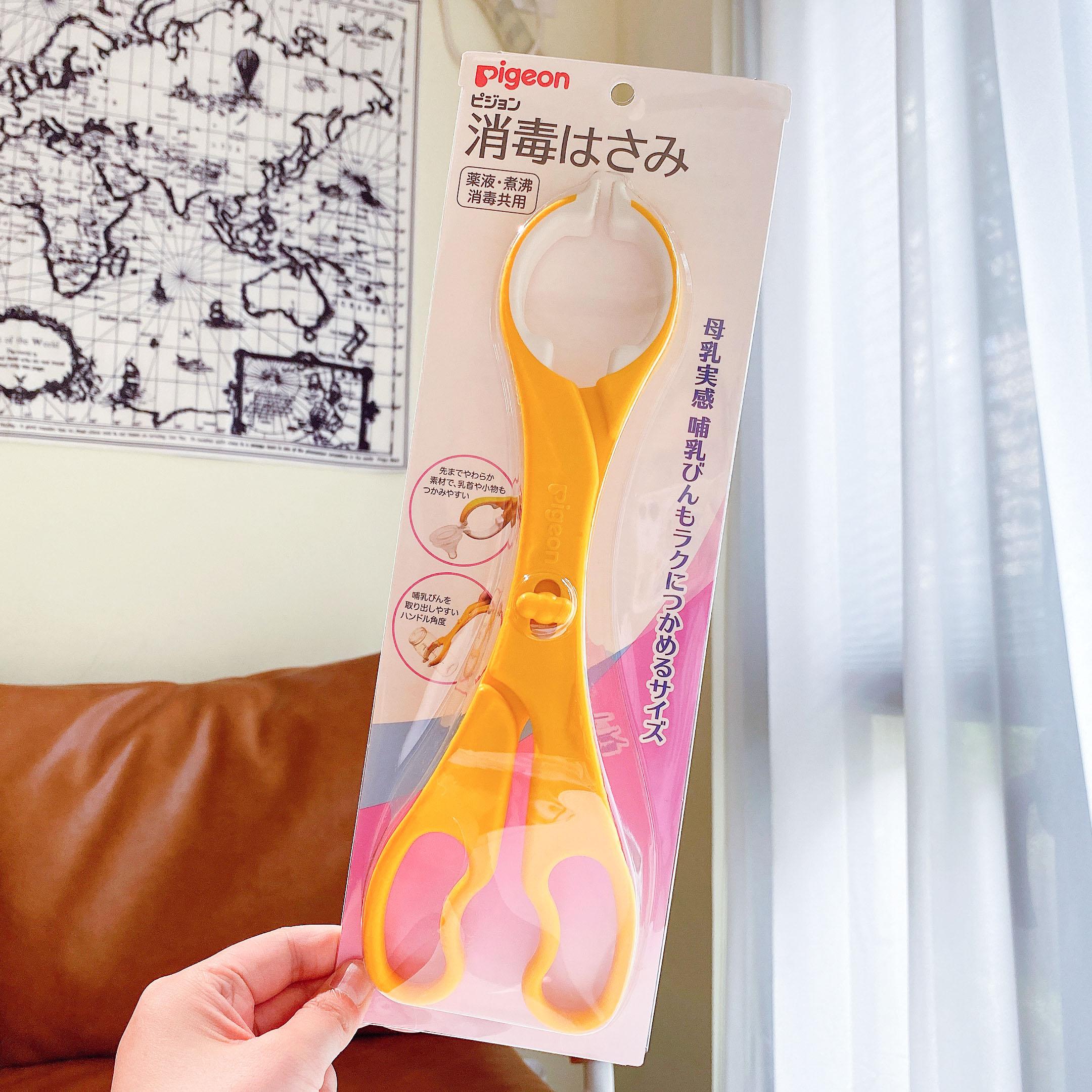 日本本土原装贝亲婴幼儿奶瓶夹奶嘴钳消毒专用防烫防滑不锈钢 Изображение 1