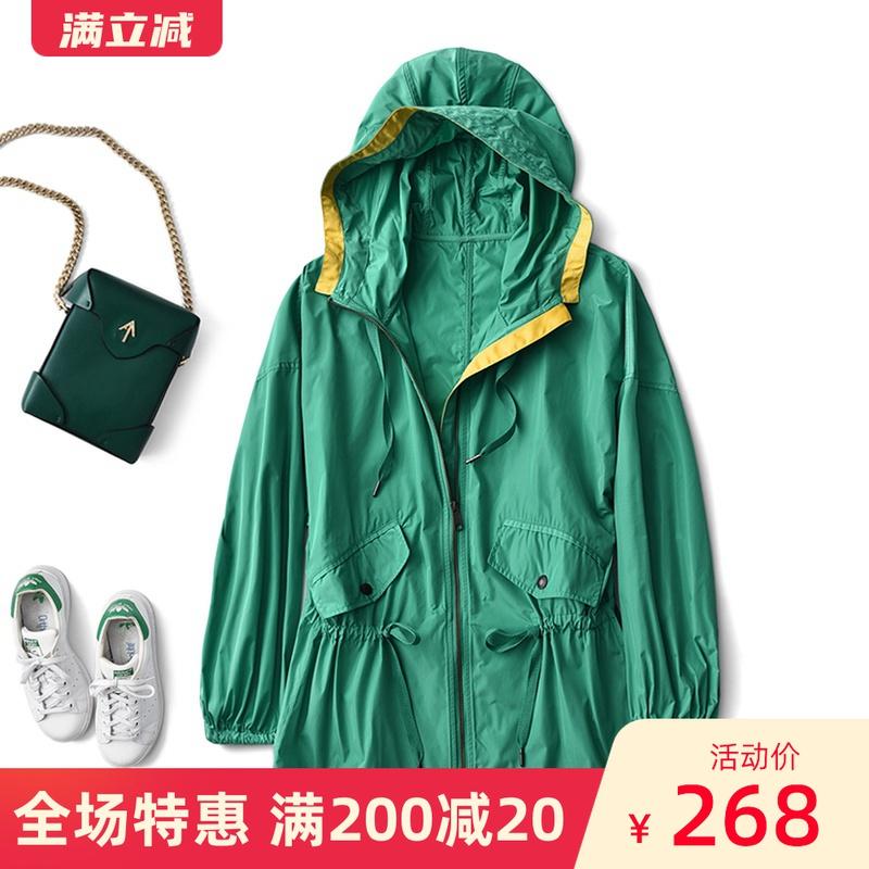 轻薄又耐穿!春夏宽松风衣女中长款韩版休闲透气防风防水冲锋外套