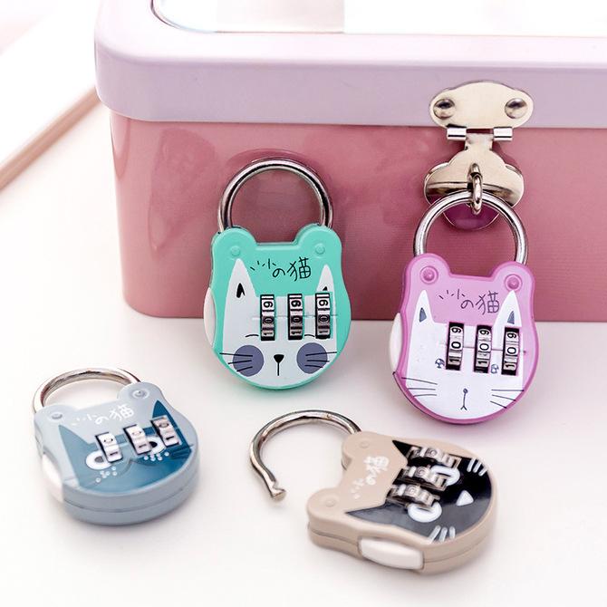 健身房更衣柜锁防盗挂锁迷你锁行李 锁 箱包锁学生宿舍小抽屉锁 密码