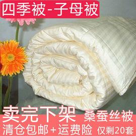 特价包邮100桑蚕丝被空调被春秋被冬被子母被儿童全棉双人夏凉被
