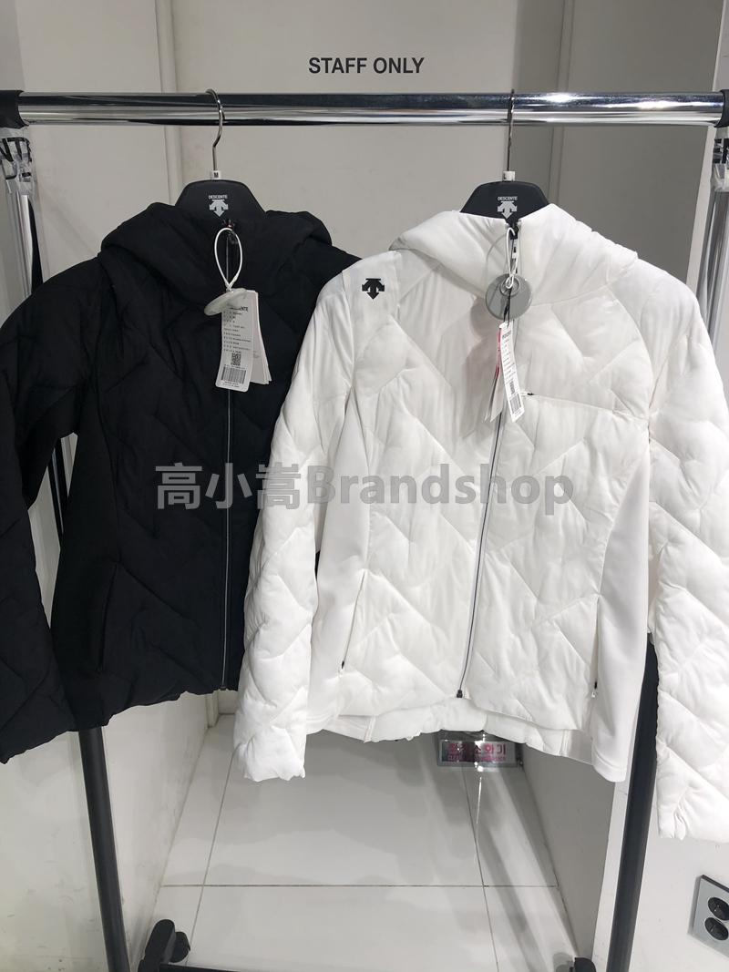 韩国代购正品DESCENTE/迪桑特女款加绒拼接薄款棉外套S9422PJKO1