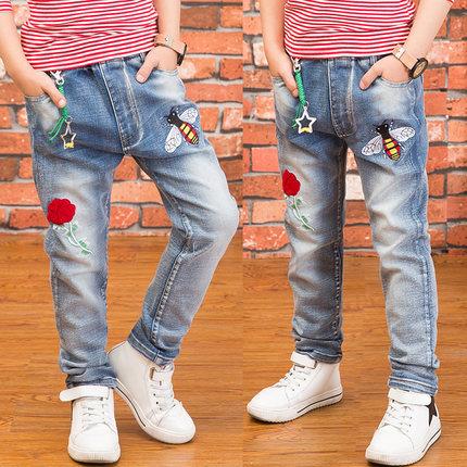 儿童男童裤子春夏款韩版中大牛仔裤