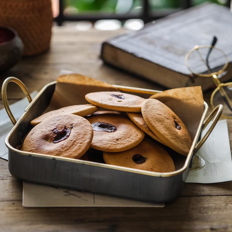 金日良品 红糖肚脐饼空心饼双炉饼潮汕特产小吃零食糕点饼干袋装