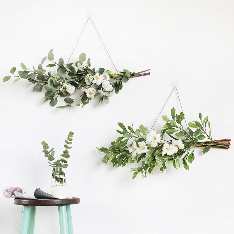 风吟手札/绿荫/ins绿植挂件北欧墙面装饰卧室壁挂墙面软装仿真花