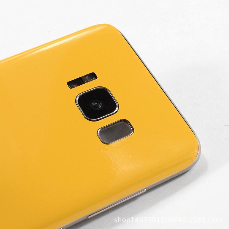 1三星s8plus亮黑背膜s7edge后膜s8+手机保护贴膜后盖全包贴纸彩膜
