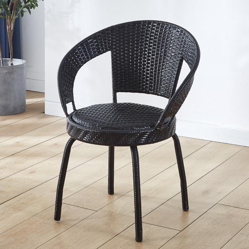 藤椅单个阳台家用户外老人小藤椅子