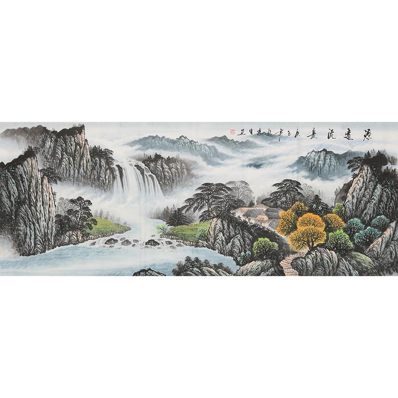 龙秀生 手绘真迹山水画 客厅装饰字画 公司办公室挂画 风水国画