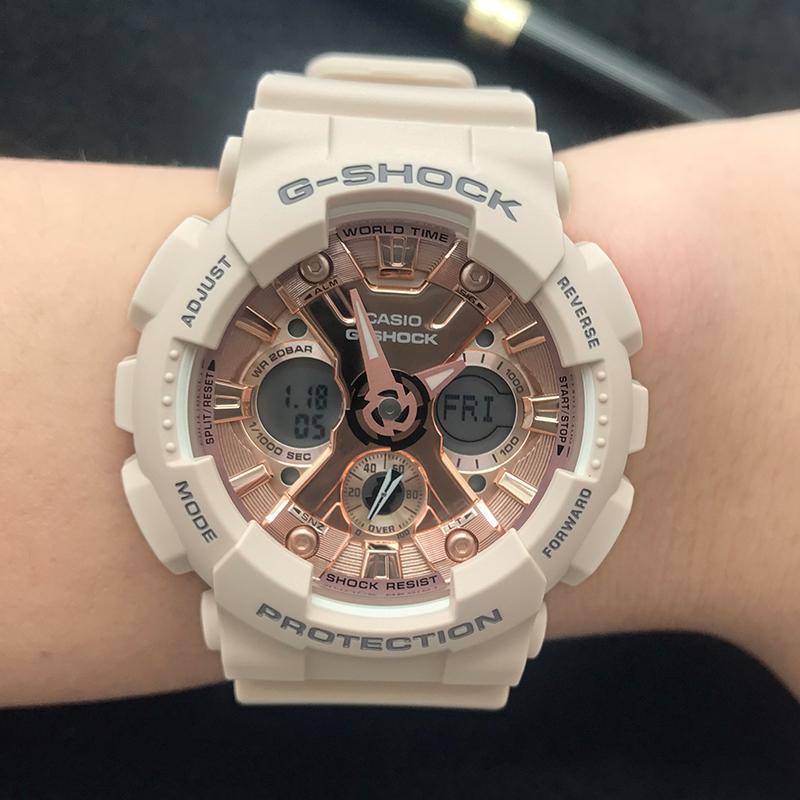 卡西欧手表 G-SHOCK GMA-S120MF-4A/S140/2A/7A1/S110MP 电子男表