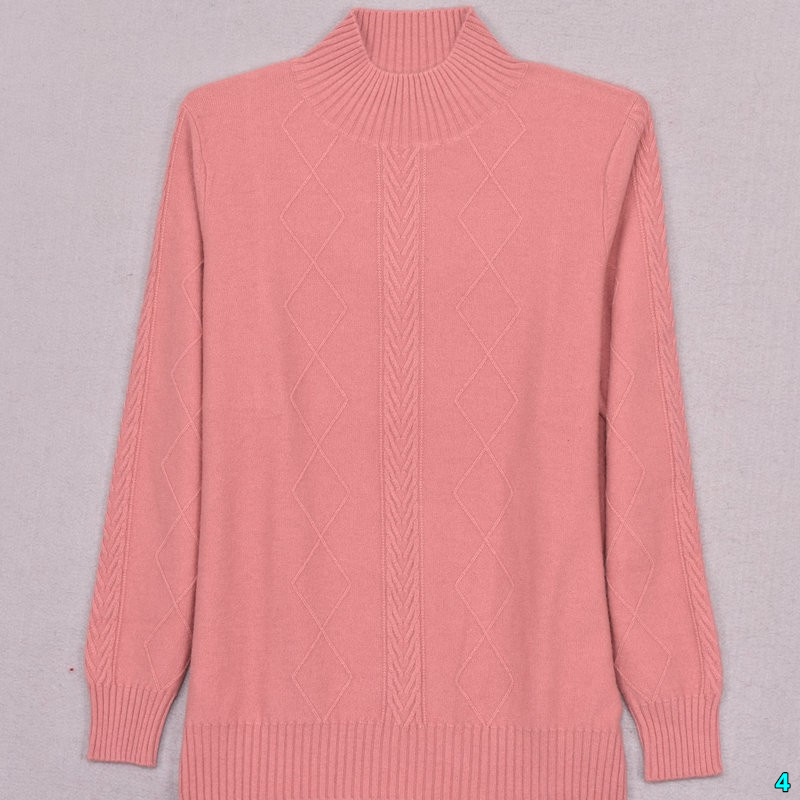 Solid color cashmere sweater womens round neck Pullover short simple knitting bottomed Wool Womens loose thin long sleeve sweater