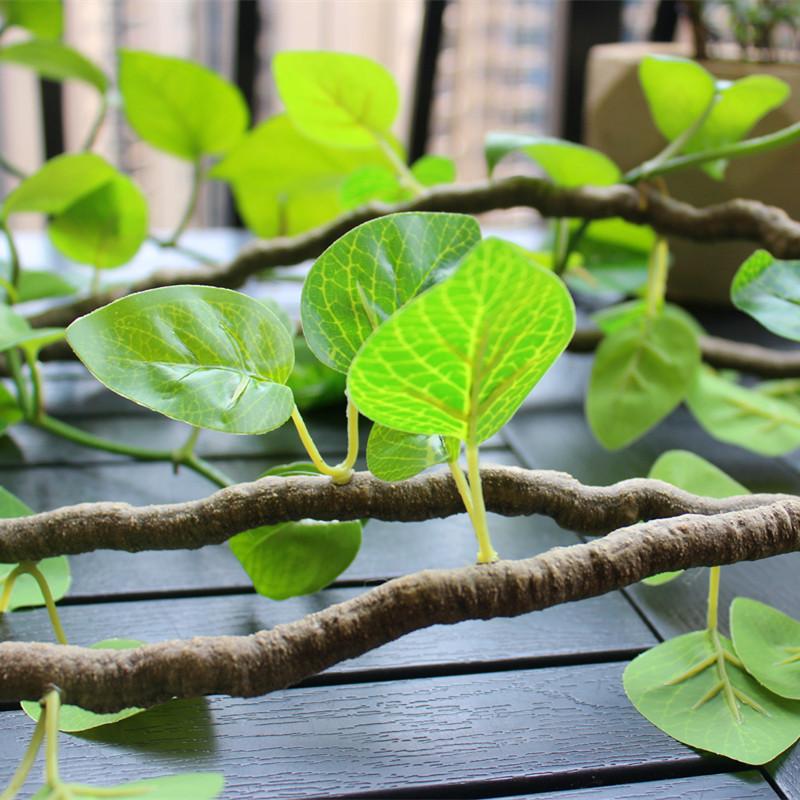 仿真藤条 假树叶空调管道装饰 吊顶绿萝 藤蔓植物假花藤遮挡绿叶