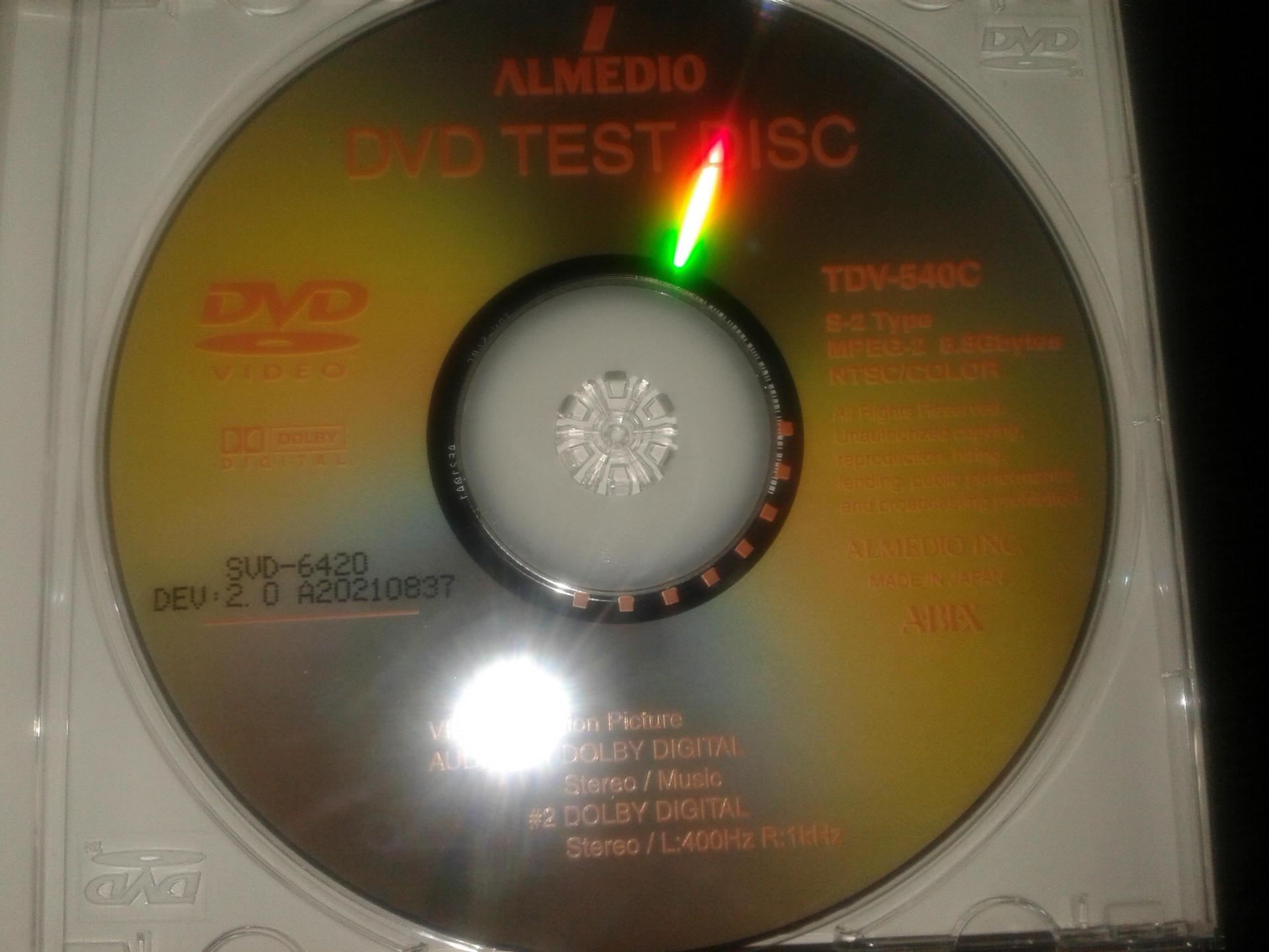 ABEX测试碟  TDV-6420 抖动测试 DVD面振2.0MM测试碟