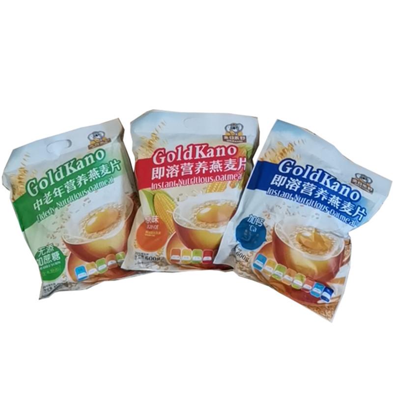 金日禾野即溶营养燕麦片600克 加钙和原味 中老年600克 23
