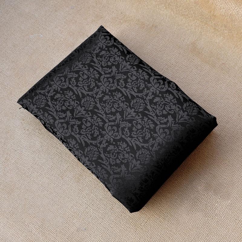 特恵全洗浄ジャカード生地黒幅2.9メートルdiyカーテンテーブルクロス漢服生地防水耐汚遮光