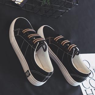 休闲板鞋 小白鞋 百搭一脚蹬帆布鞋 爆款 学生2020春季 人本新款 女韩版