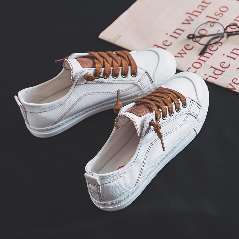 人本小白鞋女2020新款夏季潮鞋子学生百搭帆布鞋透气薄款韩版板鞋