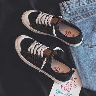 潮鞋 人本帆布鞋 小白鞋 女2020秋季 子学生港风情侣板鞋 新款 百搭韩版