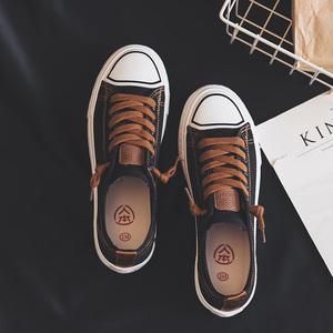 人本帆布鞋女新款夏季女鞋子休闲小白鞋2020秋季韩版百搭学生板鞋