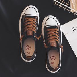 人本帆布鞋女新款春季女鞋休闲小白鞋2020潮鞋子韩版百搭学生板鞋图片