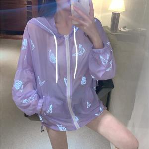 TS15207#网红洋气薄外套女超A蝴蝶反光防晒衣空调衣