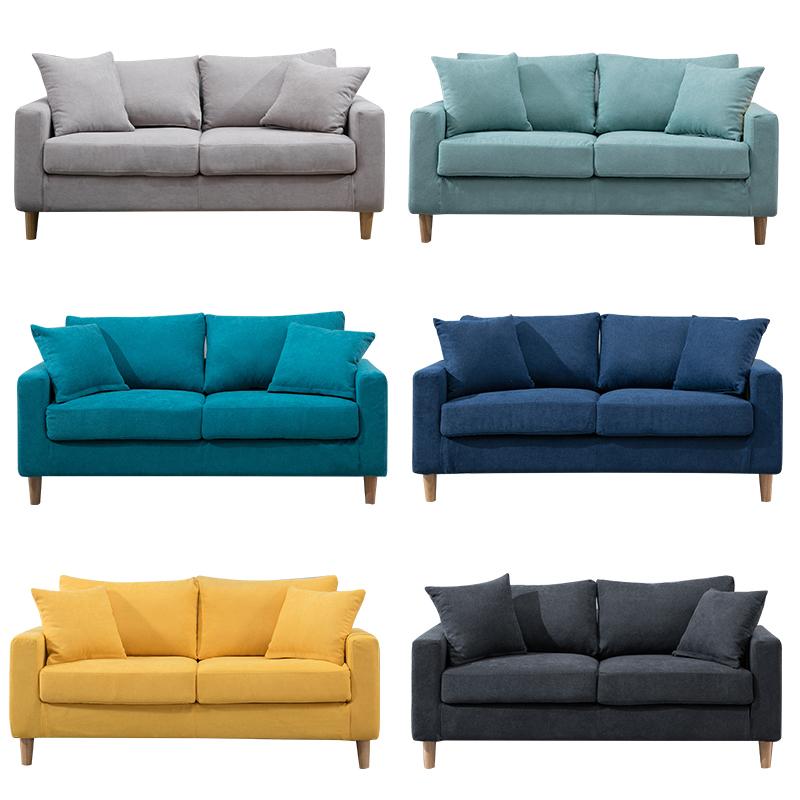 布艺小户型客厅卧室现代简约双沙发