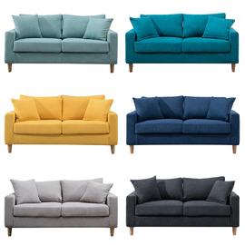 布艺沙发小户型客厅现代简约双人三人北欧简易出租房服装店网红款图片