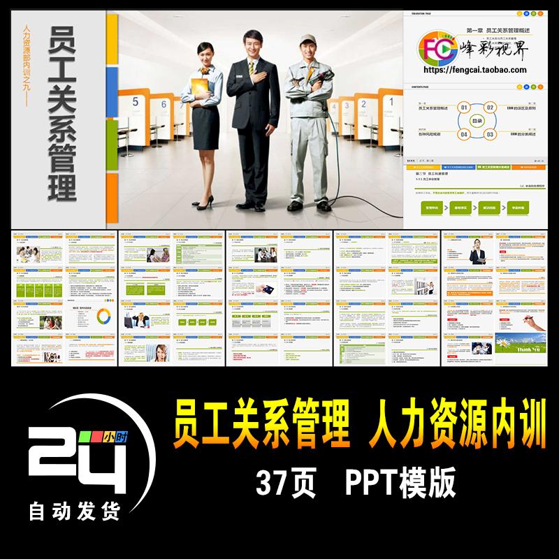 员工关系管理 人力资源部内训 职场员工培训提升演示课件PPT模版