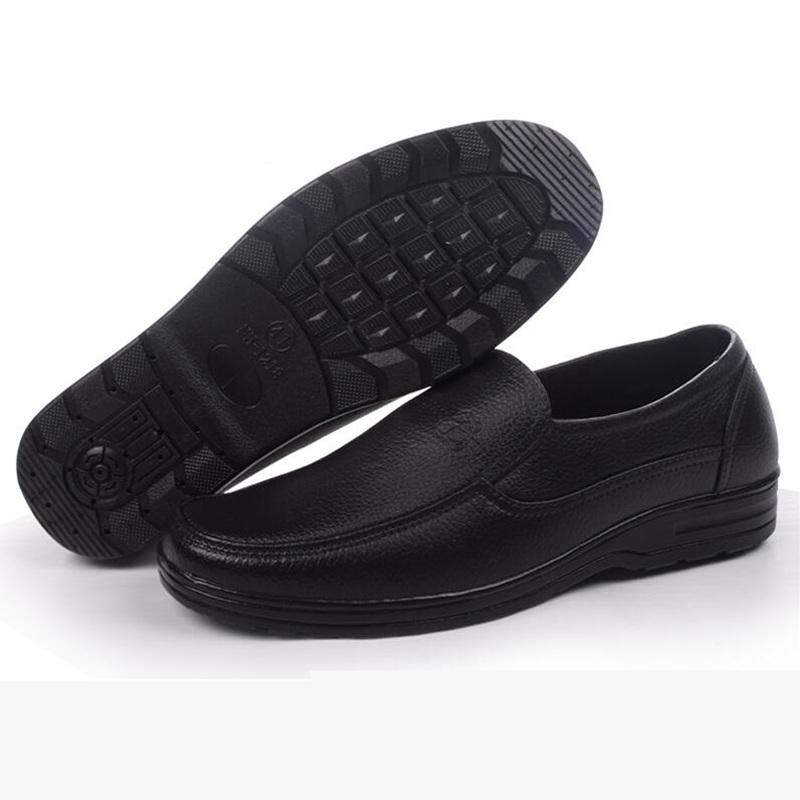 Весна скольжение водонепроницаемый искусственная кожа обувной шеф-повар клей обувной мужчина низкий короткие трубки сапоги рыбалка вода обувной мужской сапоги мужчина