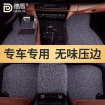 汽车脚垫丝圈防水耐脏易清洗专车专用定制原车踩垫地毯式压边款