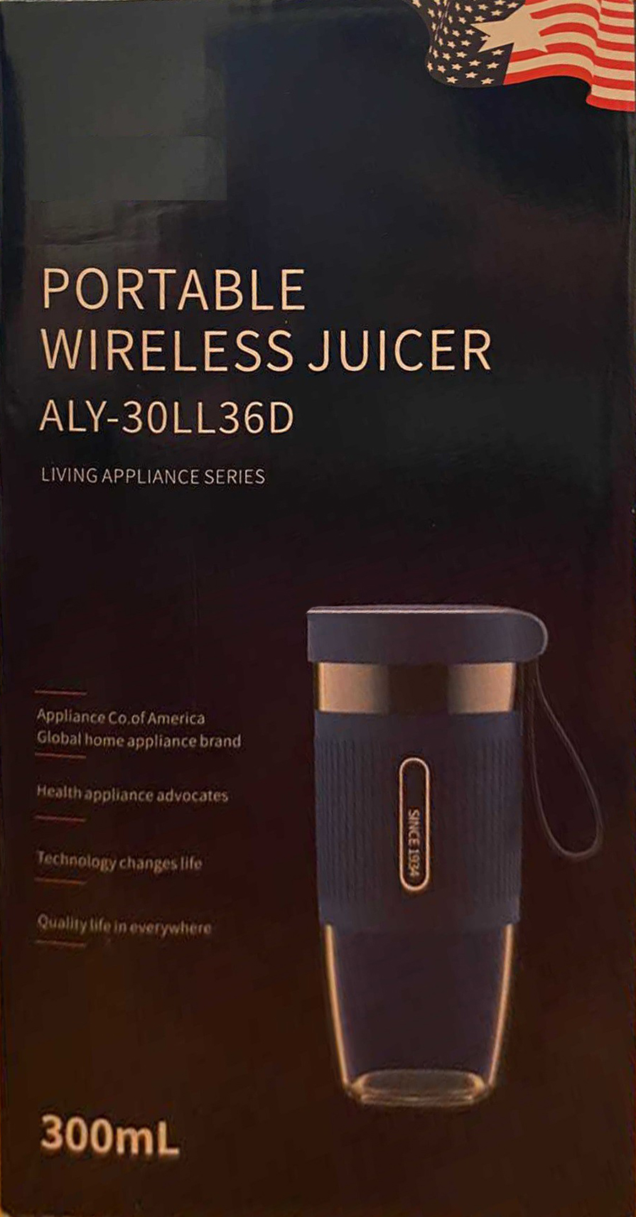 ACA / North American appliance aly-30ll36d portable wireless fruit Juicer household rechargeable fruit juicing cup