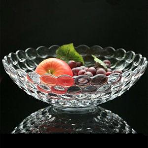 君子欧式创意水晶玻璃果盘果斗酒吧KTV大号客厅水果零食盘家用