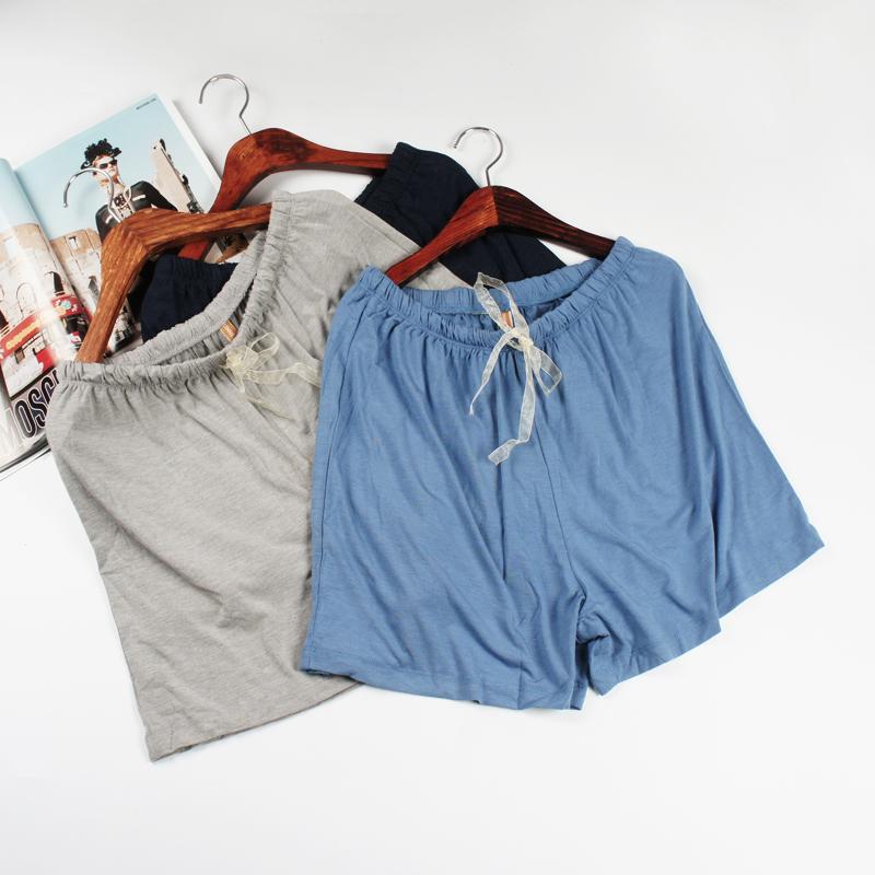 女装加肥加大码薄款特体家居可爱奶牛斑点睡裤 宽松中腰橡筋短裤