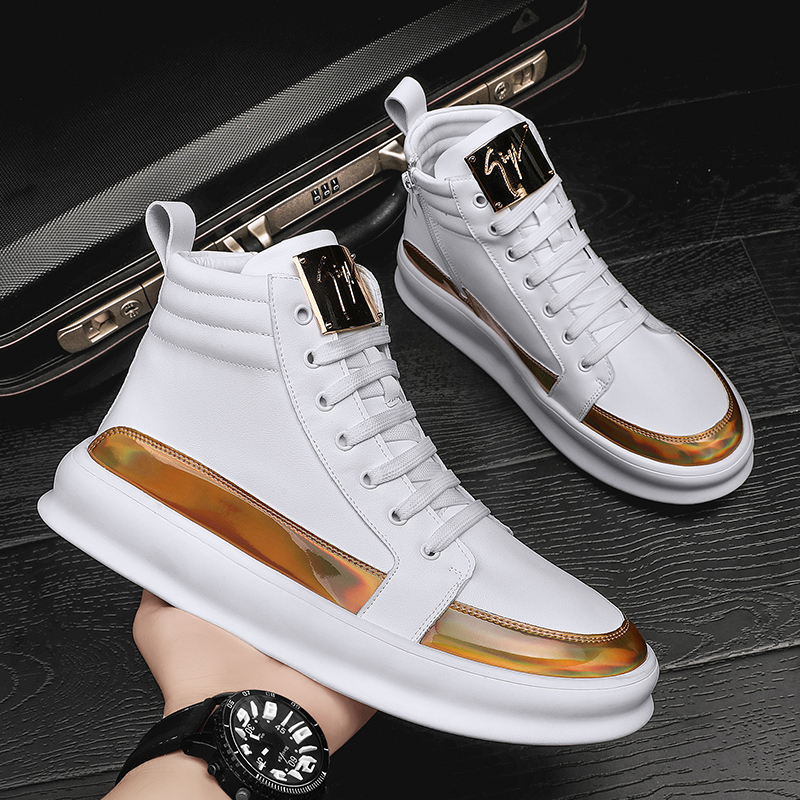 Trendy mens casual shoes high top shoes sports board shoes small white shoes mens shoes mens soft and comfortable mens shoes autumn and winter