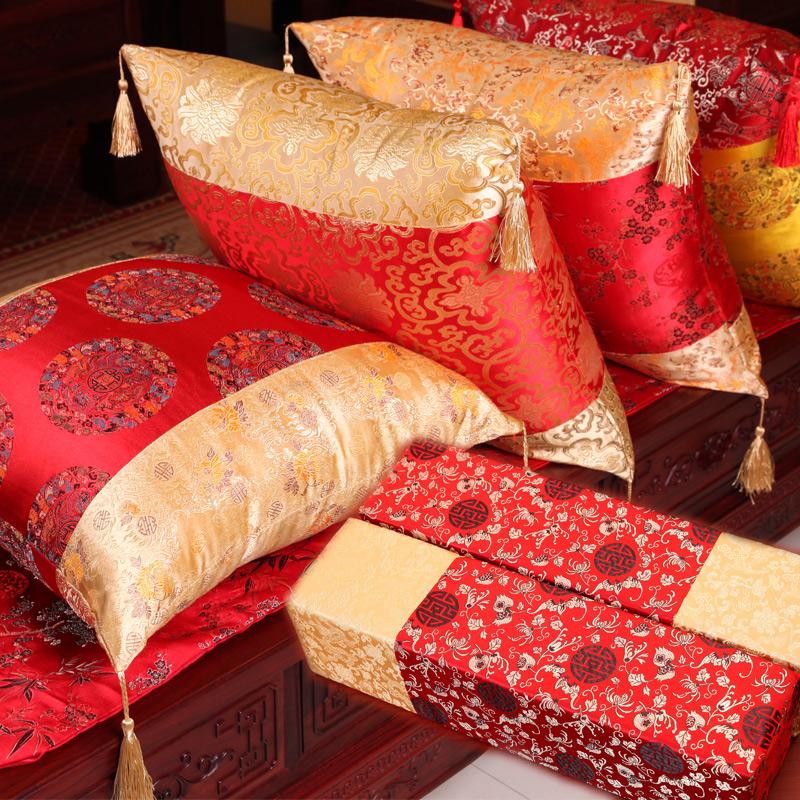 中国風の明清古典的な腰枕の背もたれカバーの肘掛け枕に芯の実木が含まれています。
