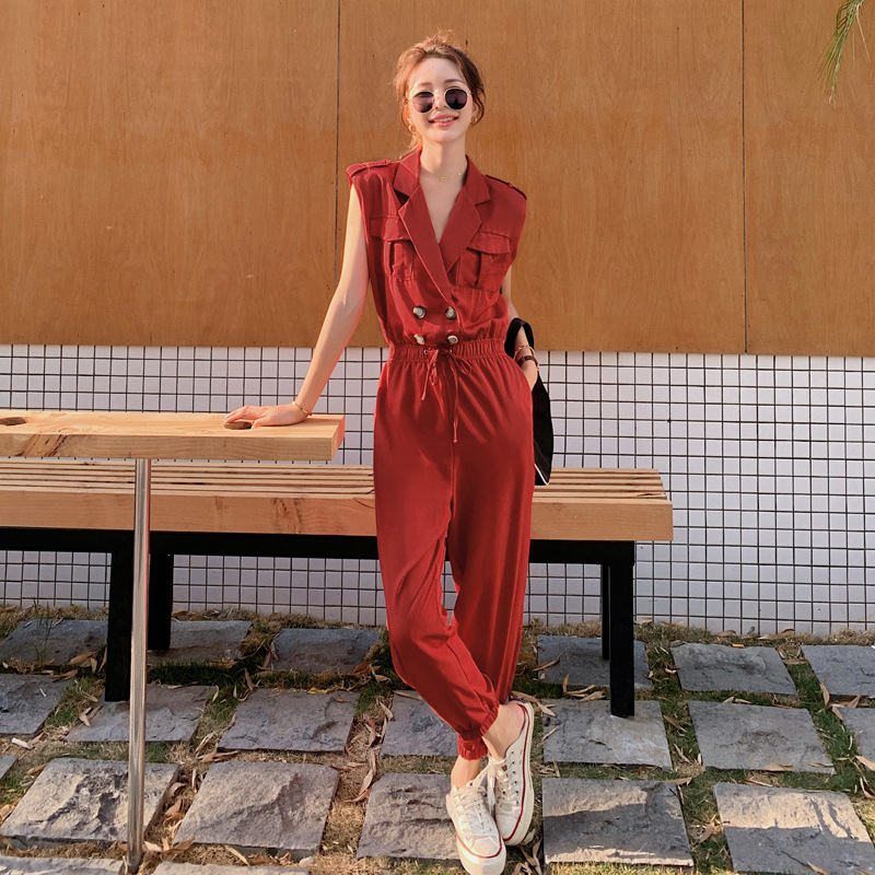 Jumpsuit European station womens net red leg binding tooling Jumpsuit women zcy2209-p100k168