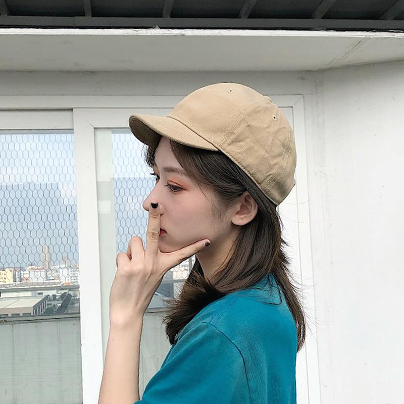 短帽檐基础款女短沿软顶日系棒球帽12月07日最新优惠