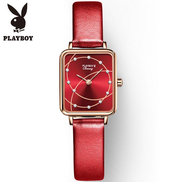 Playboy brand watch European and American fashion trend fashion Chinese red benmingnian waterproof womens fashion watch