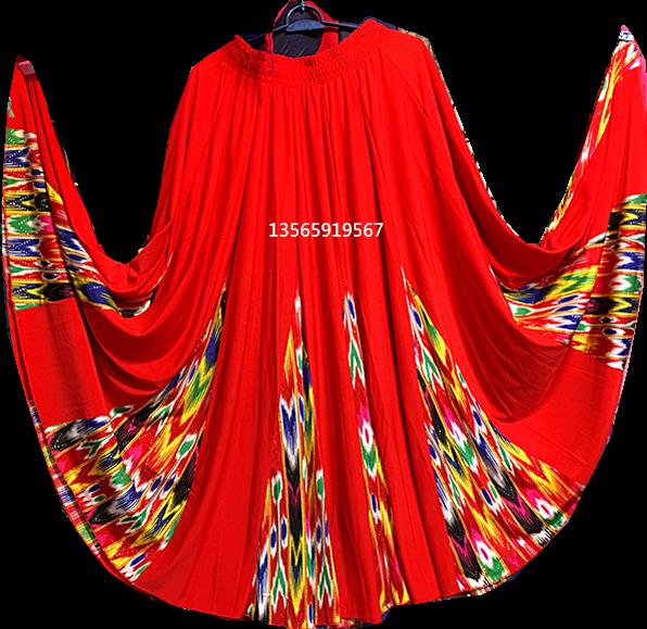 新疆新款舞蹈演出舞台服装半身裙子艾特莱斯绸广场舞衣服练功服