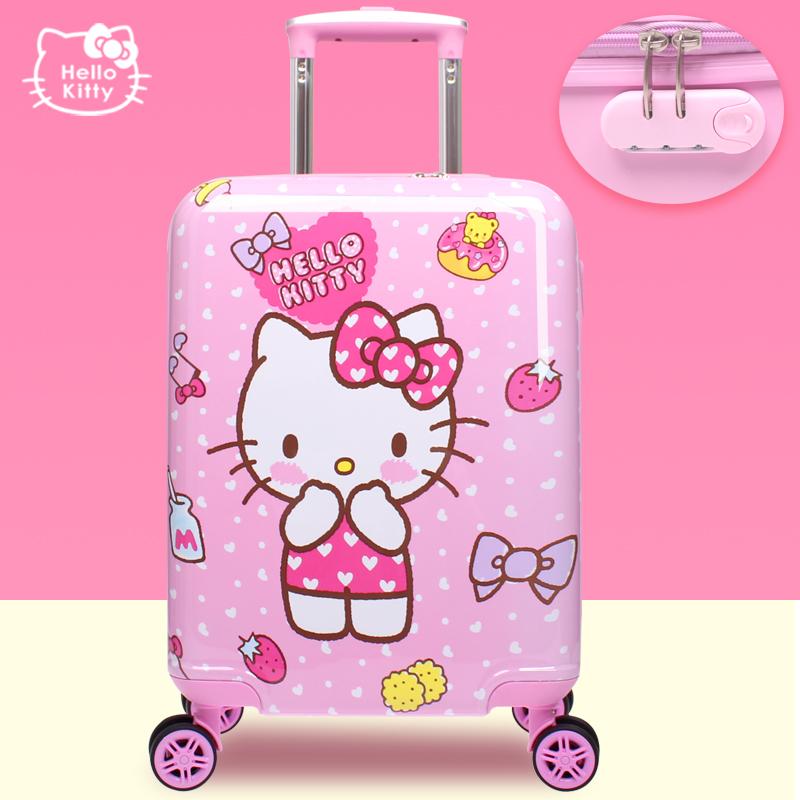 helloKitty拉杆箱儿童行李箱女孩可爱卡通旅行箱18寸新款可坐硬壳满190元可用10元优惠券