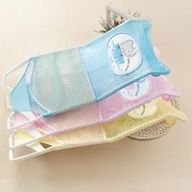 新生婴儿洗澡神器可坐躺托宝宝浴盆网兜防滑通用浴网浴架澡盆浴床图片