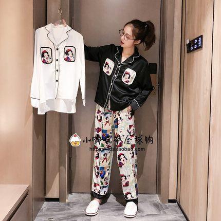 日本代购gelato pique公主卡通冰丝睡衣女秋冬长袖开衫套装家居服