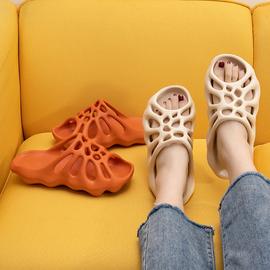 人气网红个性骷髅蜘蛛网凉拖鞋女式时尚糖果色夏季男外穿搞怪凉鞋