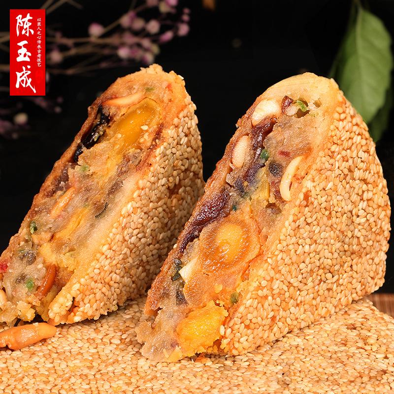 温州桥墩手工酥皮鲜肉蛋黄大月饼