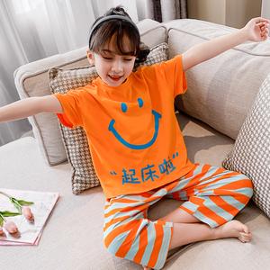 儿童夏季纯棉小女孩短袖空调服