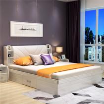 特价! 气动高箱储物床1.5米小户型板式床 1.8米双人床卧室家具