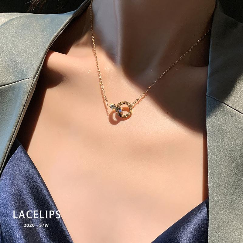 项链轻奢小众2021年新款女设计感潮2020钛钢不掉色气质锁骨链配饰