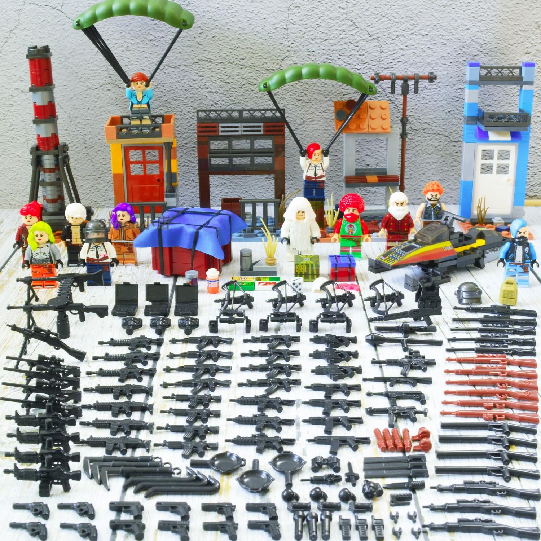 兼容樂高絕地求生吉利服空投飛機降落傘刺激戰場吃雞積木人仔玩具圖片