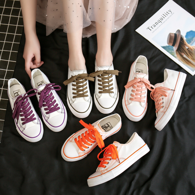 2020 new style canvas shoes for female students Korean version low top summer ulzzang trend