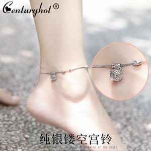 纯银铃铛脚链女夏2021年新款感足链