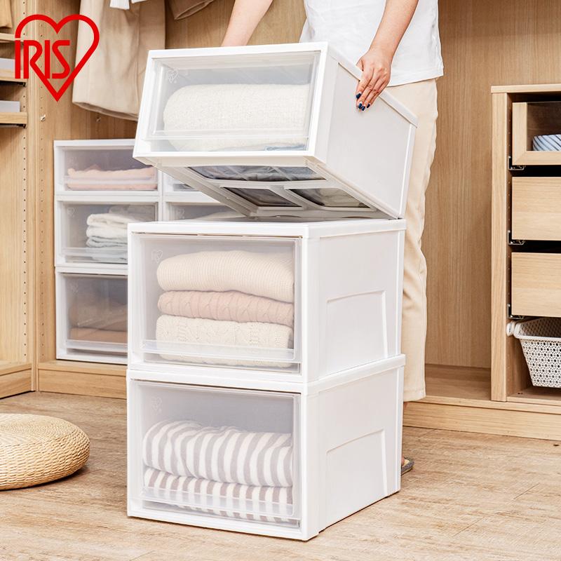 爱丽思抽屉式收纳箱塑料透明收纳盒内衣衣柜整理箱储物柜子爱丽丝