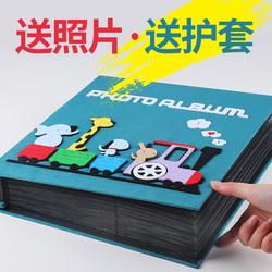 相册本插页式家庭本大容量宝宝儿童成长5寸影集6寸纪念册五寸六寸